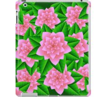 Ice Pink Camellias and Green Leaves iPad Case/Skin