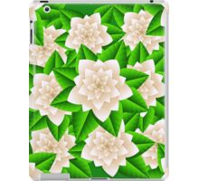 White Camellias and Green Leaves iPad Case/Skin