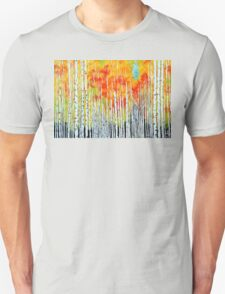 Autumn Aspen Trees Quaking Colorado Colorful Forest Unisex T-Shirt