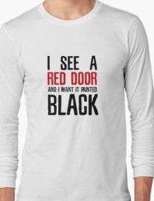Paint It Black The Rolling Stones Lyrics Long Sleeve T-Shirt