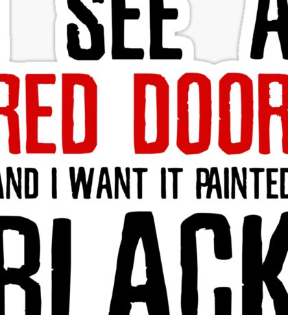 Paint It Black The Rolling Stones Lyrics Sticker