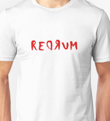 Redrum The Shining Quote Stanley Kubrick Horror Unisex T-Shirt