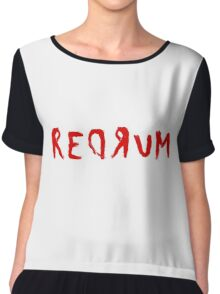 Redrum The Shining Quote Stanley Kubrick Horror Chiffon Top