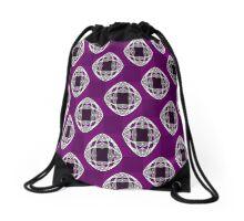 Nouveau Eye Checkerboard Amethyst Drawstring Bag