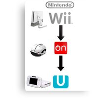 Nintendo Wii On U Metal Print
