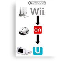 Nintendo Wii On U Canvas Print