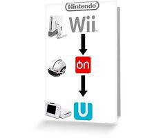 Nintendo Wii On U Greeting Card