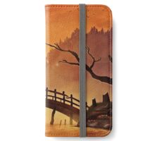 Samurai at the Sunset iPhone Wallet/Case/Skin
