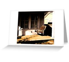Porch Swing Greeting Card