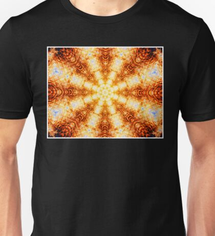 Undulating Tunnels of Molten Light - Abstract Fractal Art Unisex T-Shirt
