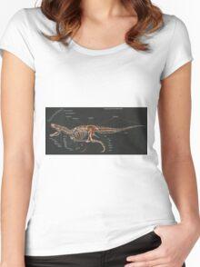 2016 Tyrannosaurus Rex Skeletal Study Women's Fitted Scoop T-Shirt
