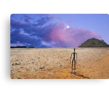 Sunrise -  Lake Ballard-(salt pan) in the northern goldfields (desert region) of Western Australia . Metal Print
