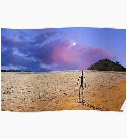 Sunrise -  Lake Ballard-(salt pan) in the northern goldfields (desert region) of Western Australia . Poster