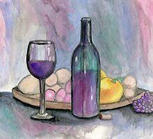 Scene From An Italian Restaurant by Roz Abellera Art Gallery