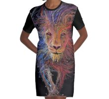 A Light in the Shadows Graphic T-Shirt Dress