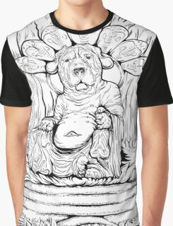 Buddha Dog Graphic T-Shirt