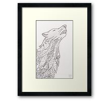 Aurora the Wolf Framed Print