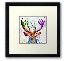 Red Deer Grunge Framed Print