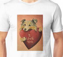 Australian Shepherd~I love You~Valentine~~DOG ~LOVE Unisex T-Shirt