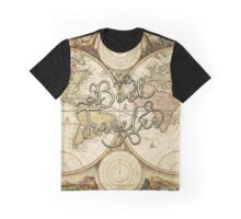 Book Traveler Vintage Map Graphic T-Shirt