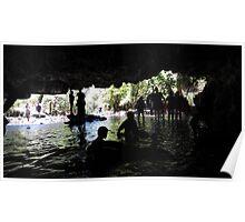 Inside Natural Bridges Cavern Poster