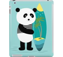 Surf along with the panda. iPad Case/Skin