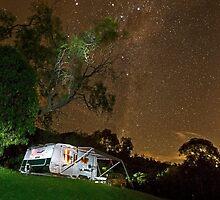 Above the World so Bright - Milky Way by Barbara Burkhardt