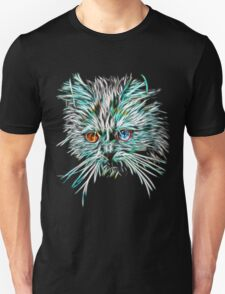 Odd-Eyed White Glowing Cat Unisex T-Shirt