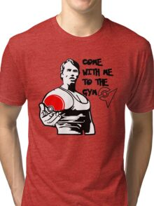"""""""Come With Me To The Gym"""" Arnold Pokemon  Tri-blend T-Shirt"""