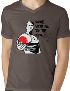 """Come With Me To The Gym"" Arnold Pokemon  Mens V-Neck T-Shirt"