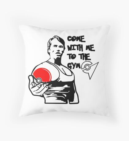 """""""Come With Me To The Gym"""" Arnold Pokemon  Throw Pillow"""