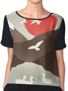 Swan Migration Chiffon Top