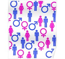 Men and Women Icons   Poster