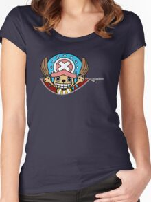 <ONE PIECE> Chopper Zip Women's Fitted Scoop T-Shirt