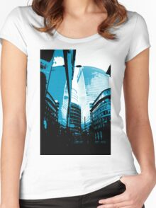 Skyscraper Reflection Women's Fitted Scoop T-Shirt