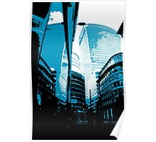 Skyscraper Reflection Poster