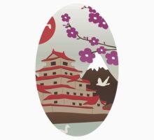 Japanese Pagoda Baby Tee