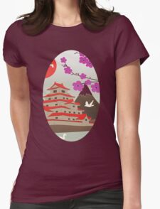 Japanese Pagoda Womens Fitted T-Shirt
