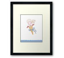 Marie Antoinette Ice Cream Cone with Bat Wings Framed Print