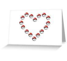 Pok-e-heart Greeting Card