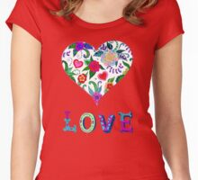 Love is all in the coloring Women's Fitted Scoop T-Shirt