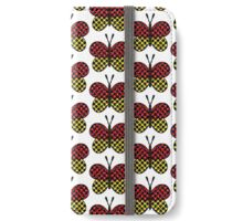 Butterfly red and yellow iPhone Wallet/Case/Skin