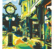 Armbruster Clock & Storefront - Cedarburg WI (bold) SQUARE Photographic Print