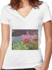 Flowers - 17 Women's Fitted V-Neck T-Shirt