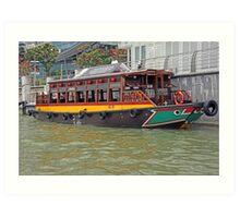 Canal Cruiser Art Print