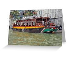 Canal Cruiser Greeting Card