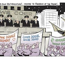 Onwards to Freedom of the Press! by David Pope