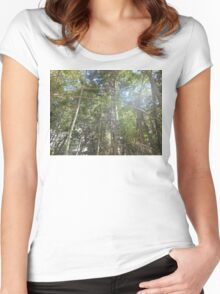 look up Women's Fitted Scoop T-Shirt