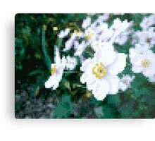 different 8bit flower Metal Print