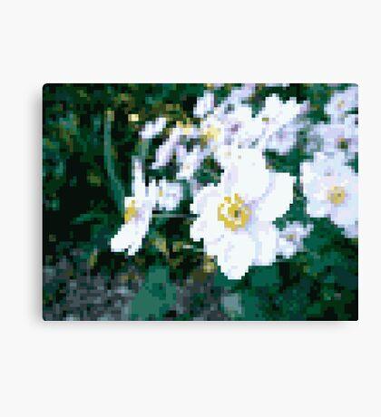 different 8bit flower Canvas Print